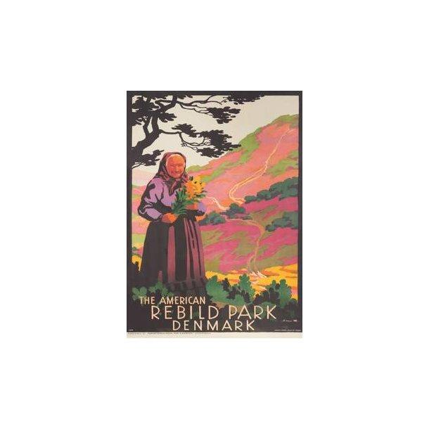 Ikonisk plakat med Top-Karen og Rebild Bakker fra 1929